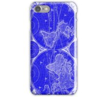 World Map (1730) Blue & White iPhone Case/Skin