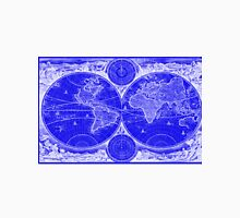 World Map (1730) Blue & White Unisex T-Shirt