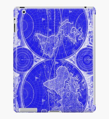 World Map (1730) Blue & White iPad Case/Skin