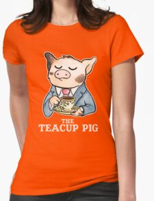 The Teacup Pig Womens Fitted T-Shirt