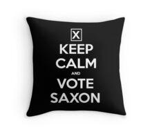 Vote Saxon  Throw Pillow
