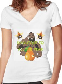 I JUST PEAR NOW Women's Fitted V-Neck T-Shirt