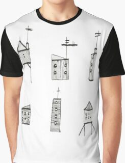 A Collection of Buildings Graphic T-Shirt