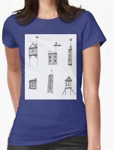 A Collection of Buildings Womens Fitted T-Shirt