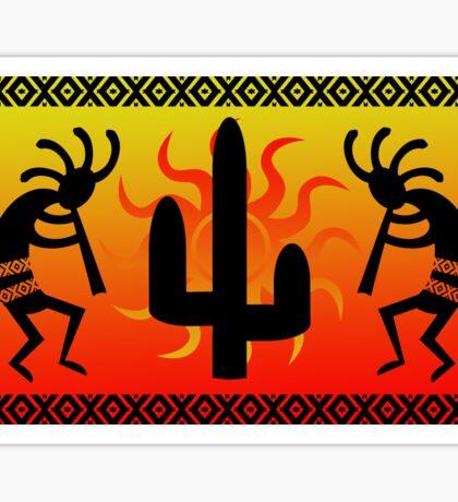Southwest Desert Kokopelli Cactus Sticker