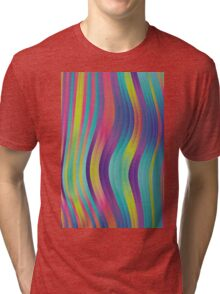 trippy colorful waves - abstract design Tri-blend T-Shirt