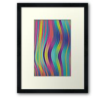 trippy colorful waves - abstract design Framed Print