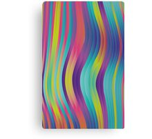 trippy colorful waves - abstract design Canvas Print