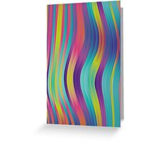 trippy colorful waves - abstract design Greeting Card