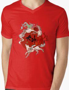 Okami Mens V-Neck T-Shirt