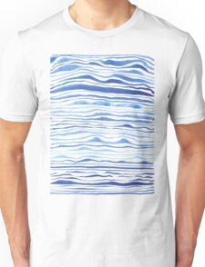 blue lines in watercolor Unisex T-Shirt