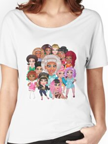 RuPaul's Drag Race Season 8 Queens Women's Relaxed Fit T-Shirt