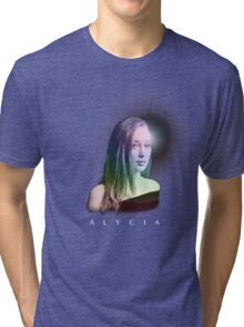 Alycia Debnam-Carey rainbow glare Tri-blend T-Shirt
