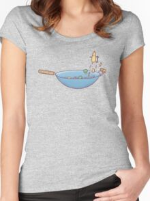 All wok and no play Women's Fitted Scoop T-Shirt