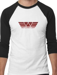 Weyland Corp Alien - Logo - Red Men's Baseball ¾ T-Shirt