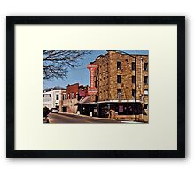 """That Small Town Feel""... prints and products Framed Print"