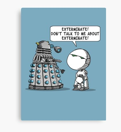 Marvin meets Who? Canvas Print