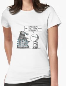 Marvin meets Who? Womens Fitted T-Shirt
