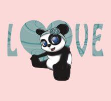 Happy Panda Floral Kids Tee