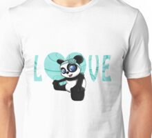 Happy Panda Floral Unisex T-Shirt