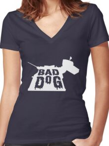 Bad Dog 3 Women's Fitted V-Neck T-Shirt
