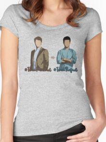 #TeamMichael vs #TeamRafael (Jane The Virgin) Women's Fitted Scoop T-Shirt