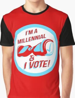 I'm a Millennial And I Vote Graphic T-Shirt