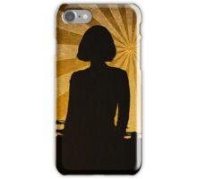 Silhouette gold iPhone Case/Skin