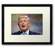 Funny Donald Clinton Face Morph Framed Print