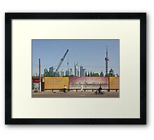 People In Town - Shanghai #2 Framed Print