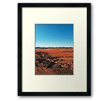 Red Barrren Soil in Wild National Park Landscape (Chapada dos Veadeiros, Brazil) Framed Print