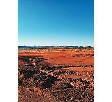 Red Barrren Soil in Wild National Park Landscape (Chapada dos Veadeiros, Brazil) Photographic Print