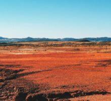 Red Barrren Soil in Wild National Park Landscape (Chapada dos Veadeiros, Brazil) Sticker