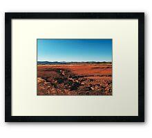 Red Barrren Soil in Beautiful Wild Landscape (Chapada dos Veadeiros, Brazil) Framed Print