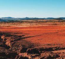 Red Barrren Soil in Beautiful Wild Landscape (Chapada dos Veadeiros, Brazil) Sticker