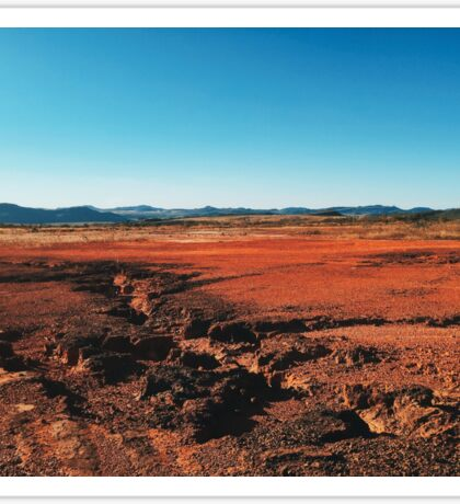 Red Barrren Soil in Beautiful Wild Landscape (Chapada dos Veadeiros, Brazil) Sticker