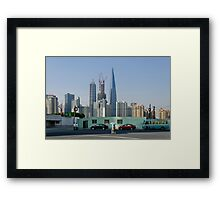 People In Town - Shanghai #3 Framed Print