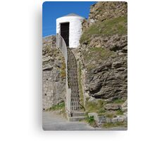The Lower Pilots Lookout at Portreath Canvas Print