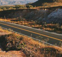 Highway Through Brazilian National Park (Chapada dos Veadeiros) Sticker