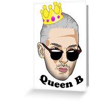 Queen B - Black Text Greeting Card