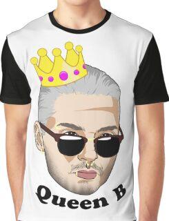 Queen B - Black Text Graphic T-Shirt
