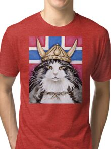 Viking Norwegian Forest Cat Tri-blend T-Shirt