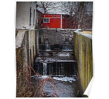 Lock 1 on the Feeder Canal Poster