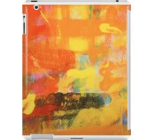 warm abstract painting iPad Case/Skin