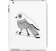 black and white bird iPad Case/Skin