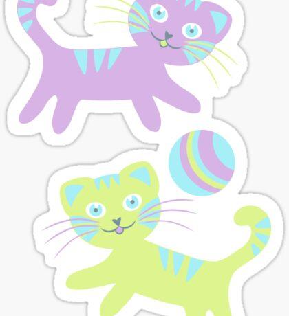 Kitten pattern Sticker
