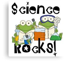 Laboratory Frogs Science Rocks Canvas Print