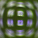 Green n Purple Swirl by Darlene Virgin
