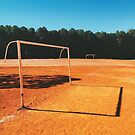 Two Goals on Sandy Soccer Field in Brazil by visualspectrum
