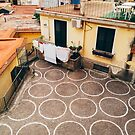 Laundry Drying in Quaint Seaside Village In Southern Italy by visualspectrum